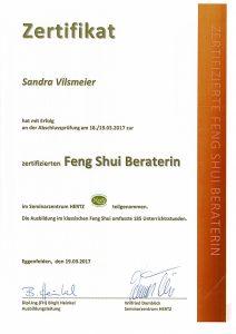 Sandra Vilsmeier – Feng Shui Zertifikat