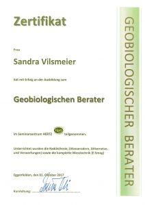 Sandra Vilsmeier – Geobiologie Zertifikat